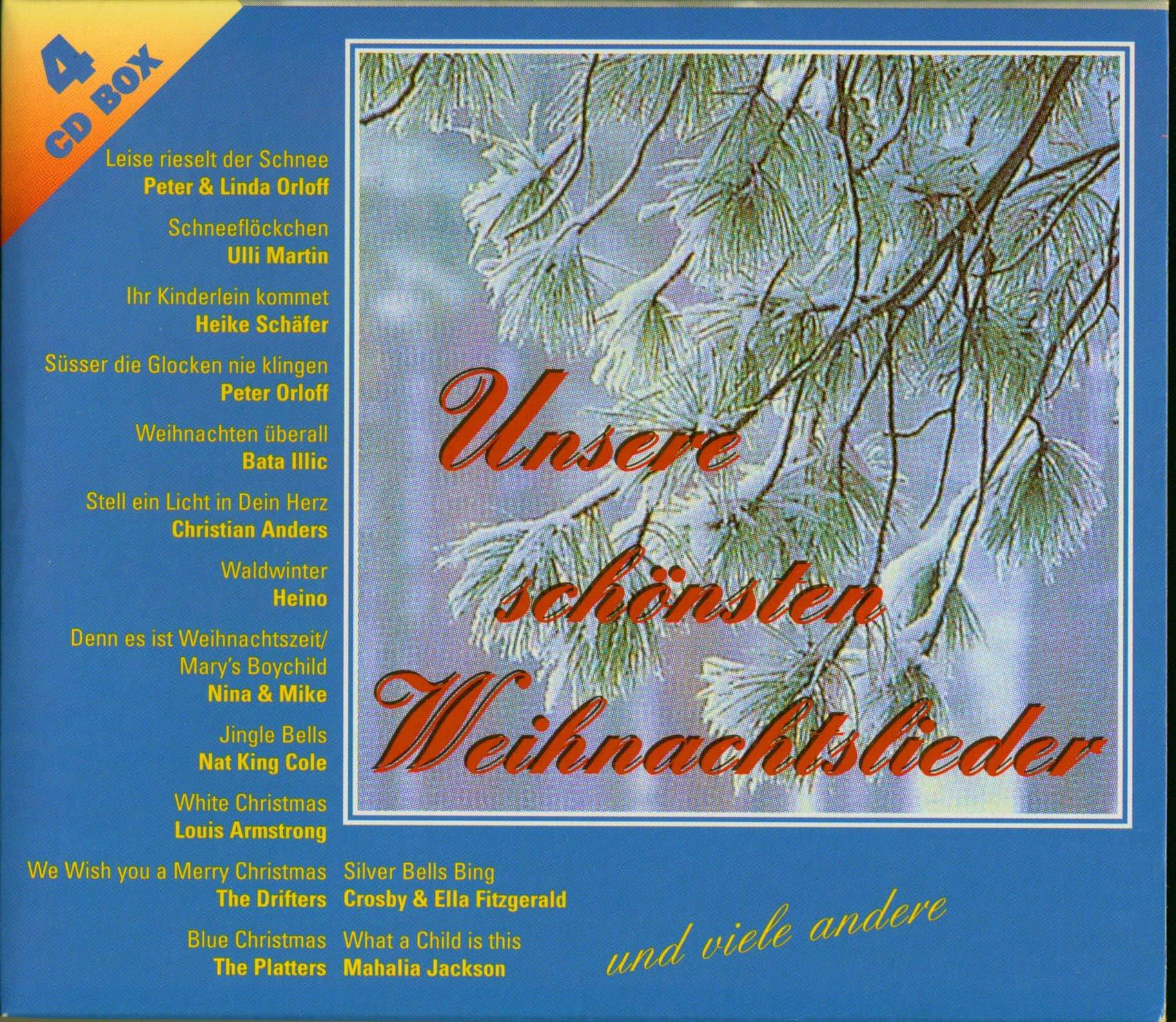 Populäre Weihnachtslieder.Various Unsere Schönsten Weihnachtslieder 4 Cd