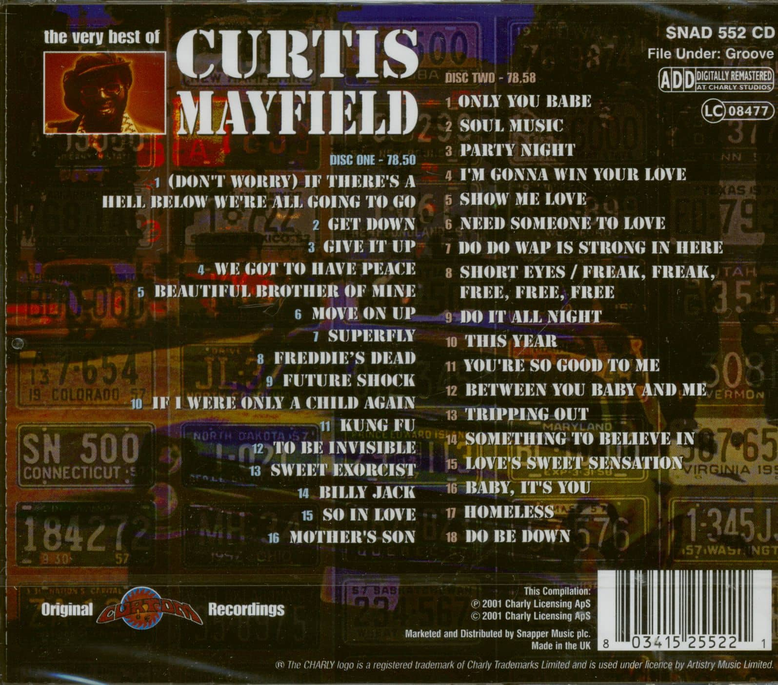 Curtis Mayfield Cd The Very Best Of Curtis Mayfield 2 Cd