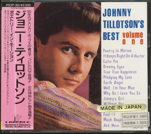 Johnny Tillotson's Best Vol.1 (CD, Japan)