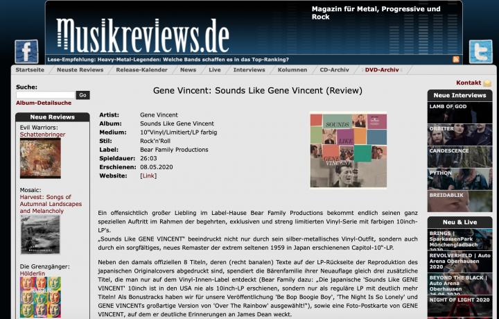 Presse-Archiv-Gene-Vincent-Sounds-Like-Gene-Vincent-LP-10inch-Ltd-musikreviews