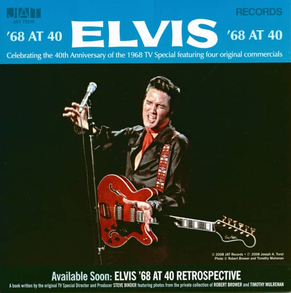 Elvis '68 At 40 - TV Special Commercials (EP, 7inch, 45rpm, PS)