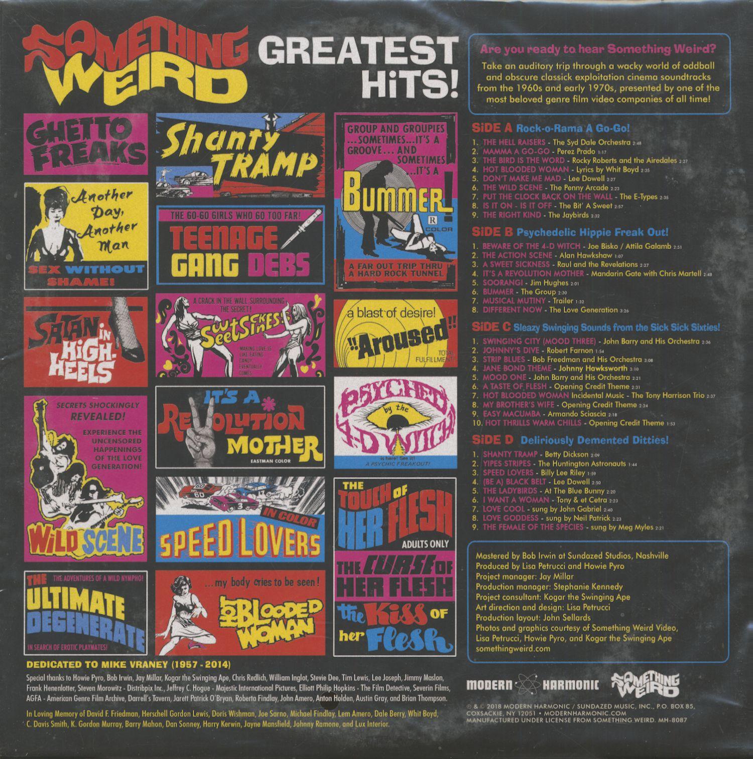 Various Lp Something Weird Greatest Hits 2 Lp Bear