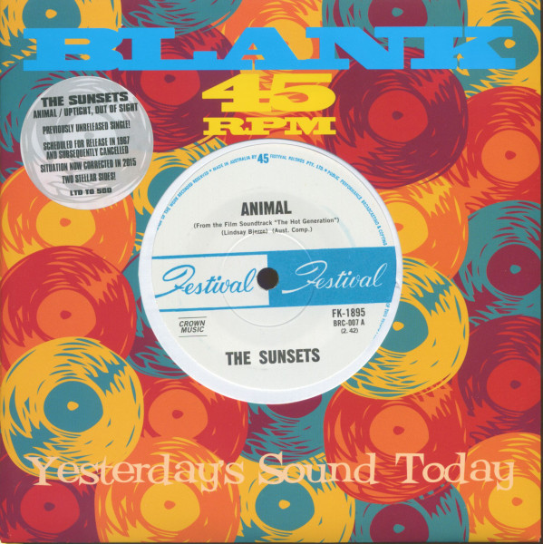 Animal - Uptight, Out Of Sight (7inch, 45rpm, SC)