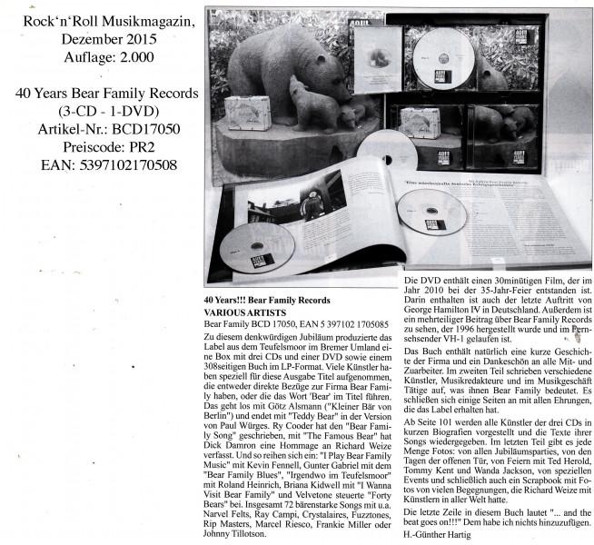 40-Years-Bear-Family_Rock-n-Roll-Musikmagazin_Dezember-2015