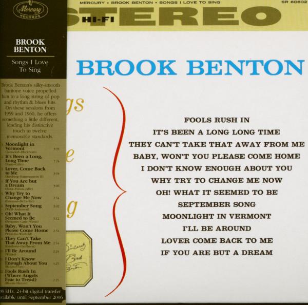 Songs I Love (CD)