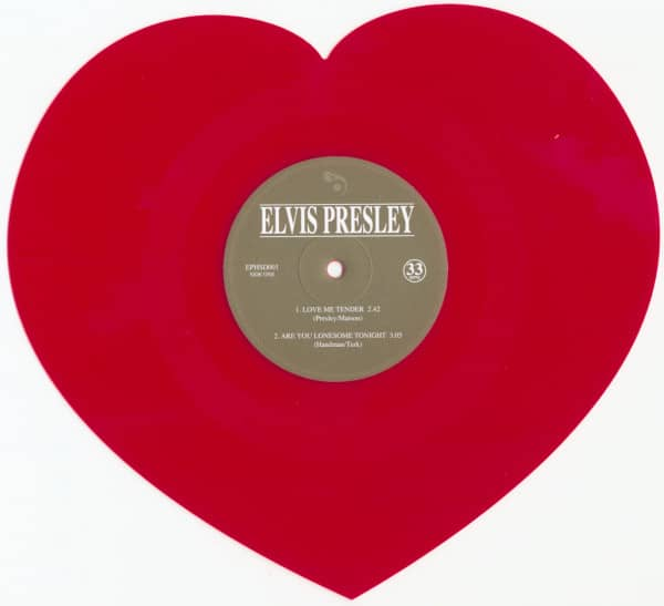 Love Me Tender (Shaped EP 33RPM Red Vinyl)