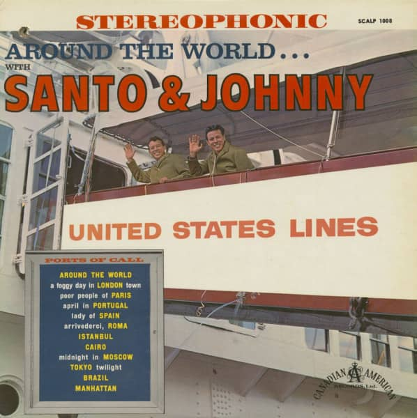 Around The World With Santo And Johnny (LP)