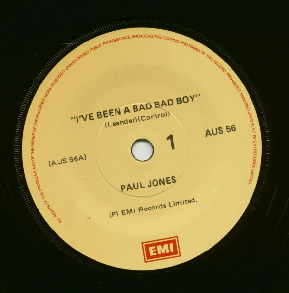 I've Been A Bad Bad Boy - Too Young To Be Married (7inch, 45rpm, SC)