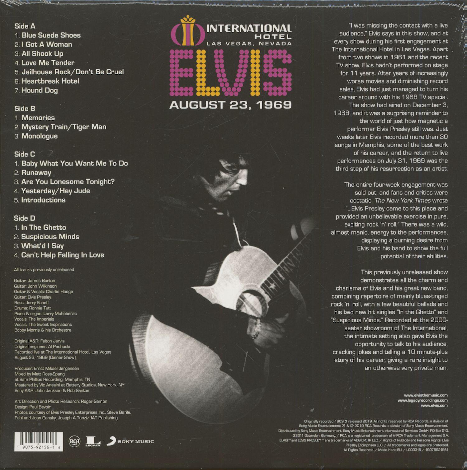 Elvis Presley Cd The International Hotel Las Vegas