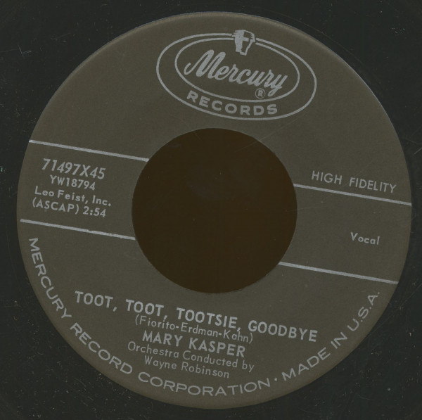 Toot, Toot, Tootsie, Goodbye - My Last Goodbye (7inch, 45rpm, BC)