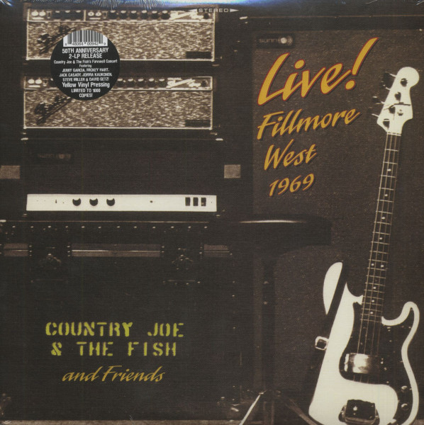 Live! - Filmore West 1969 (2-LP, Yellow Vinyl, Ltd.)