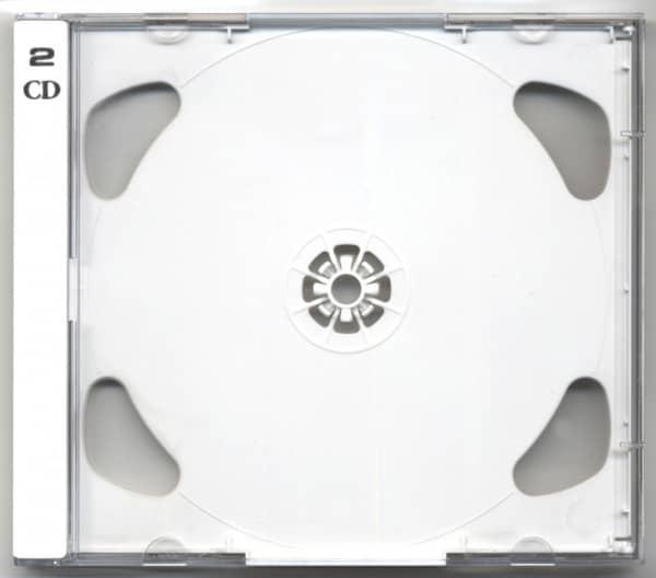 CD Leerhülle mit weißem Tray für 2 CDs