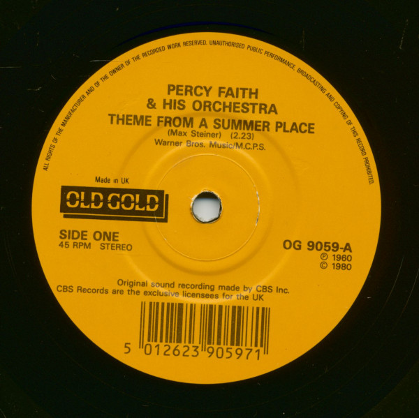 Theme From A Summer Place - Our Winter Love (7inch, 45rpm, SC)