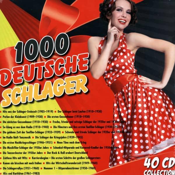 1000 Deutsche Schlager (40-CD Box)