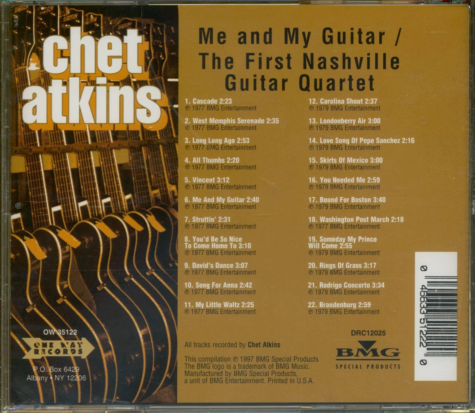 atkins chet cd me and my guitar the first nashville guitar quartet cd bear family records. Black Bedroom Furniture Sets. Home Design Ideas