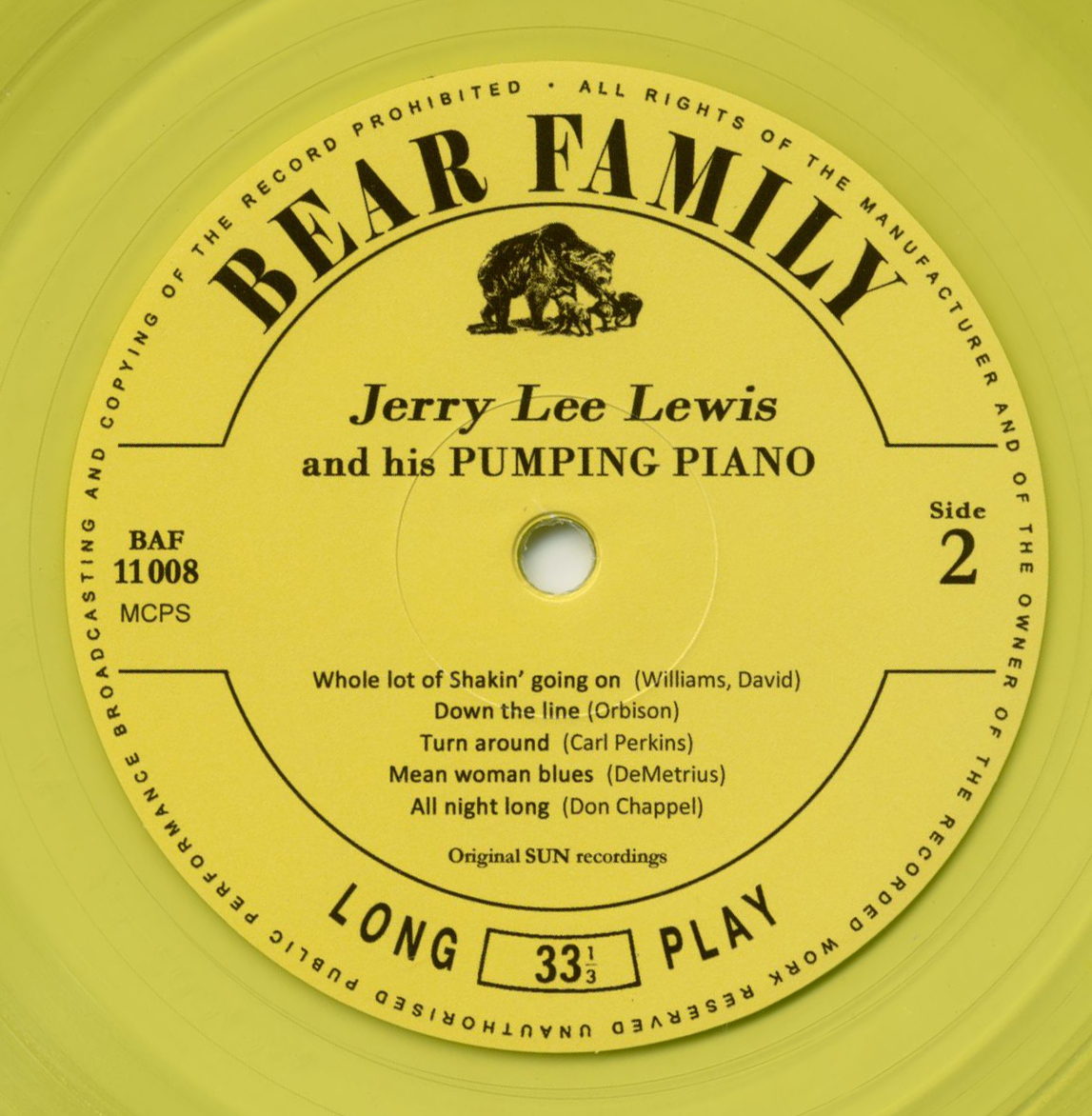 Jerry Lee Lewis LP (10 Inch): Jerry Lee Lewis And His