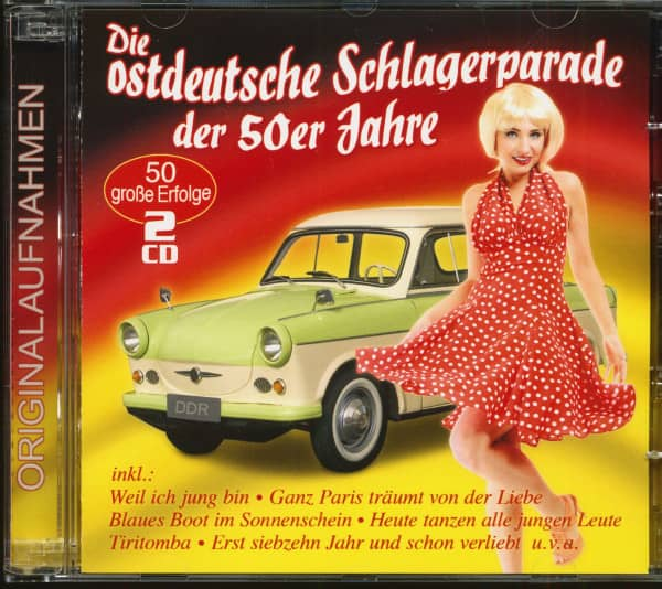 Die ostdeutsche Schlagerparade der 50er Jahre - 50 große Erfolge (2-CD)