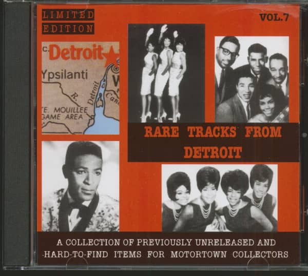Rare Tracks From Detroit Vol.7 (CD, Ltd.)