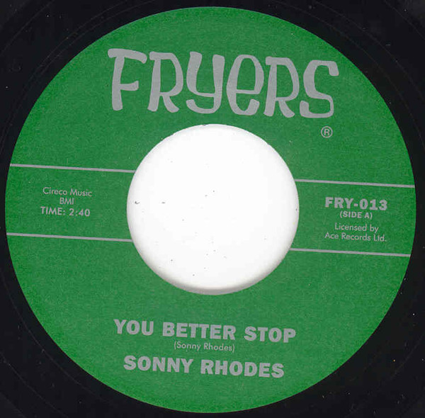 You Better Stop - My Money Is Funny 7inch, 45rpm
