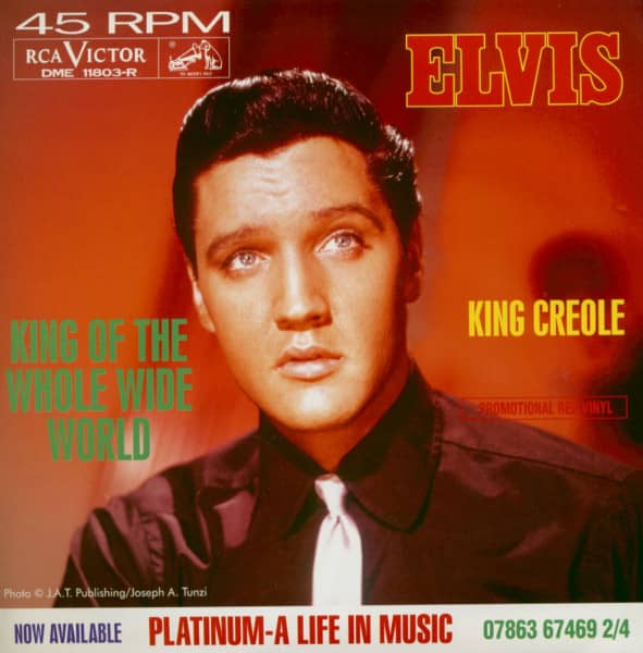 King Of The Whole Wide World - King Creole (7inch, 45rpm, Red Vinyl, Ltd., PS)