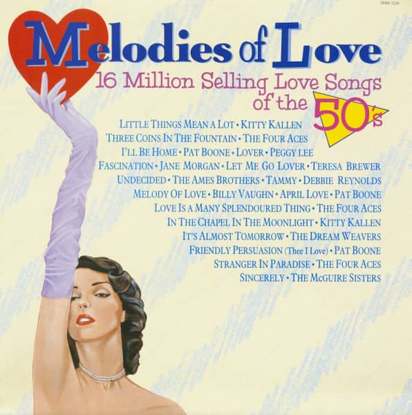 Melodies Of Love - 16 Million Selling Love Songs Of The 50s (LP)
