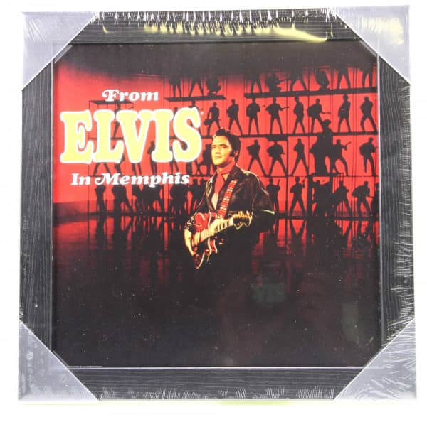 Framed Album Cover Print - From Elvis In Memphis (36.5x36.5cm)
