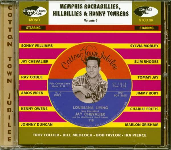 Memphis Rockabilly, Hillbilly & Honky Tonkers Vol.6 (CD)