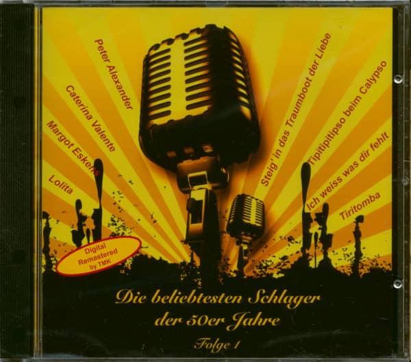 Die Beliebtesten Schlager der 50er Jahre - Folge 1 (CD)