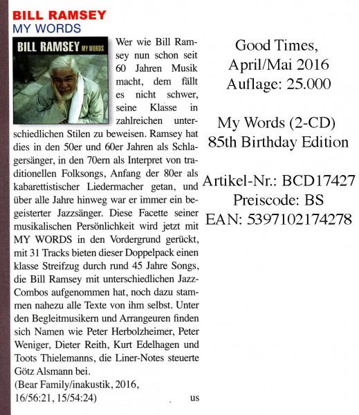 Bill-Ramsey_Good-Times_April-Mai-2016