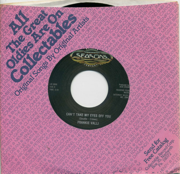 Can't Take Your Eyes Off You - To Give (The Reason I Live) (7inch, 45rpm, BC, CS)