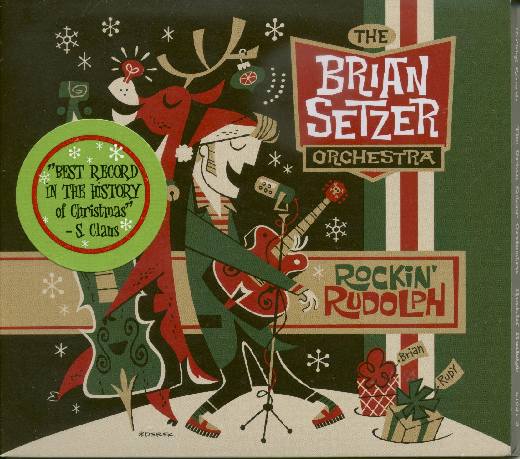 Brian Setzer Orchestra CD: Rockin\' Rudolph - Bear Family Records