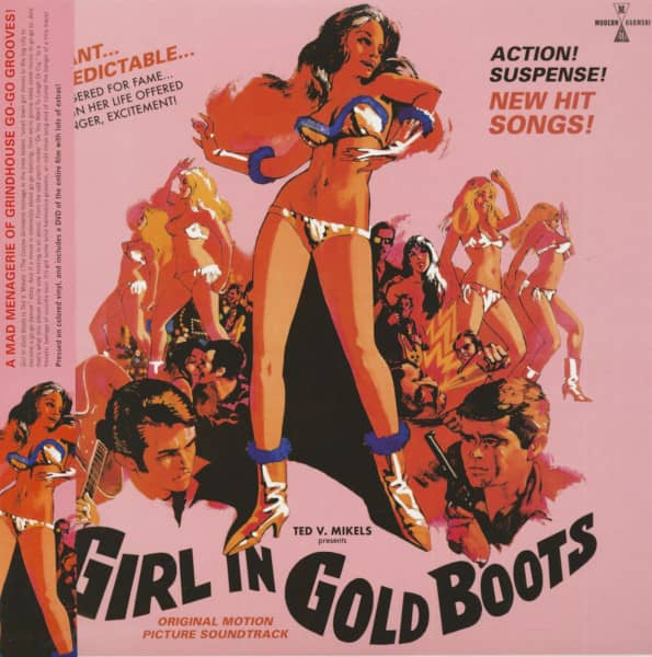Girl In Gold Boots - Soundtrack (LP & DVD, Colored Vinyl)