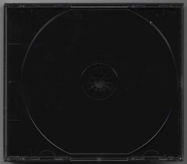 CD Leerbox mit schwarzem Tray für 3 CDs