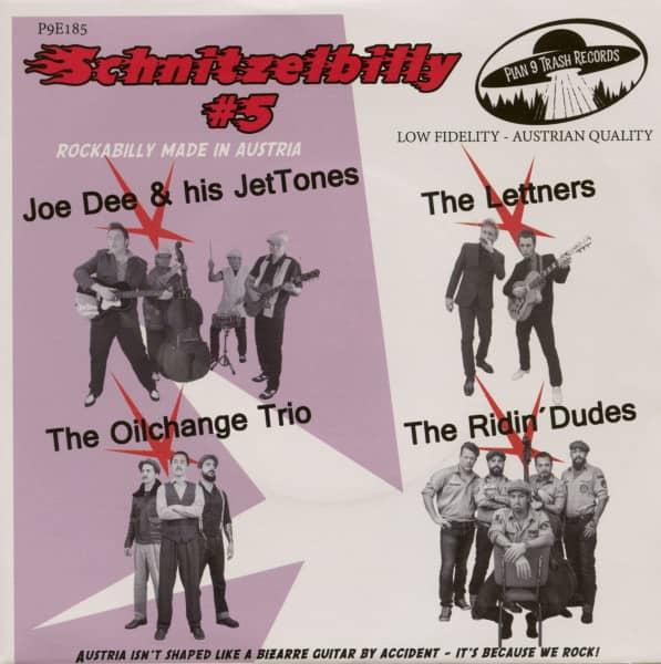 Schnitzelbilly No.5 - Rockabilly Made In Austria (7inch, EP, 33rpm, PS, SC, Black Vinyl)