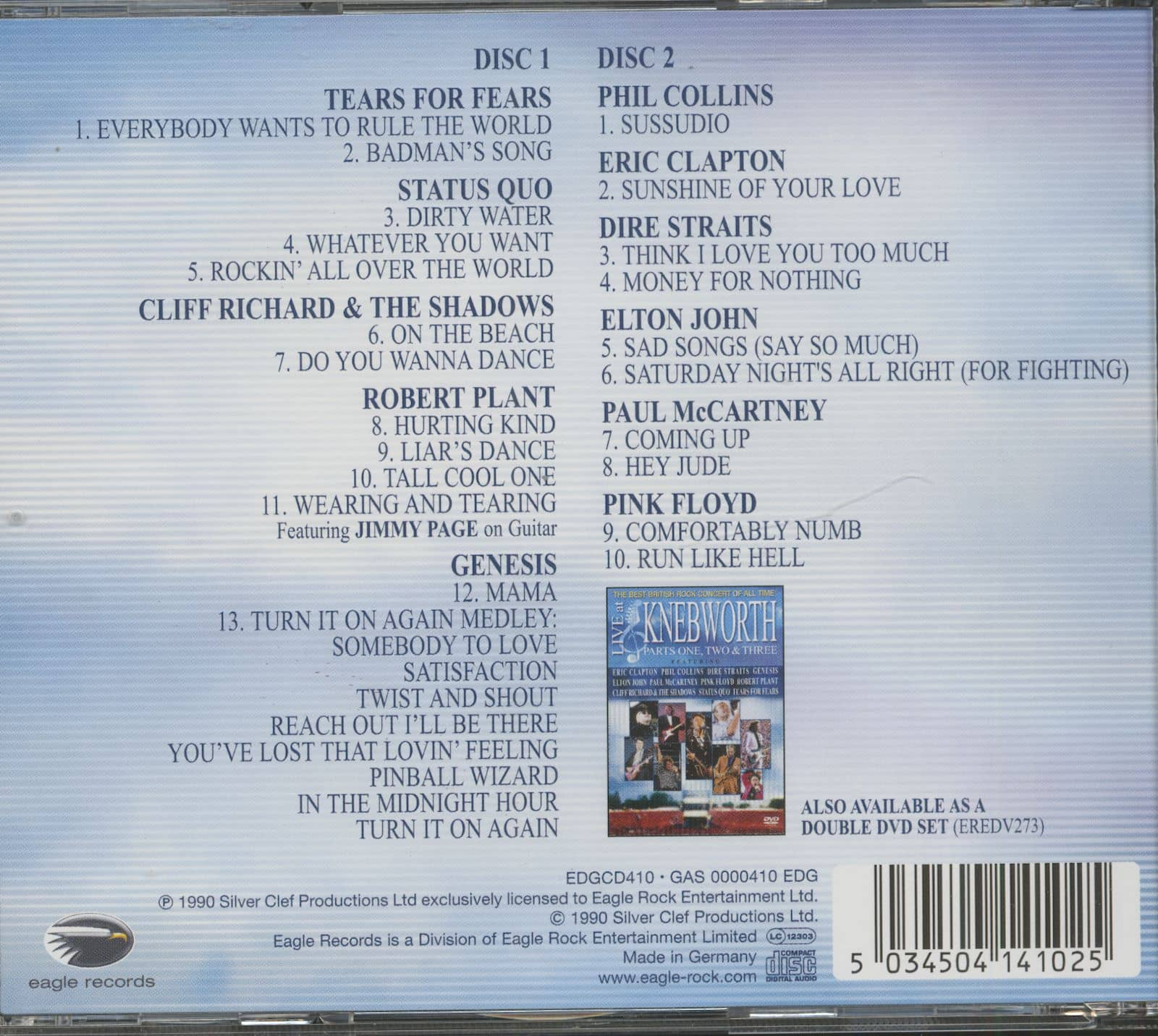 Various Cd Live At Knebworth 2 Cd The Best British Rock
