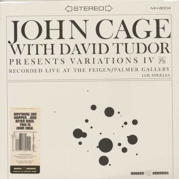 With David Tudor - Variations IV (LP)