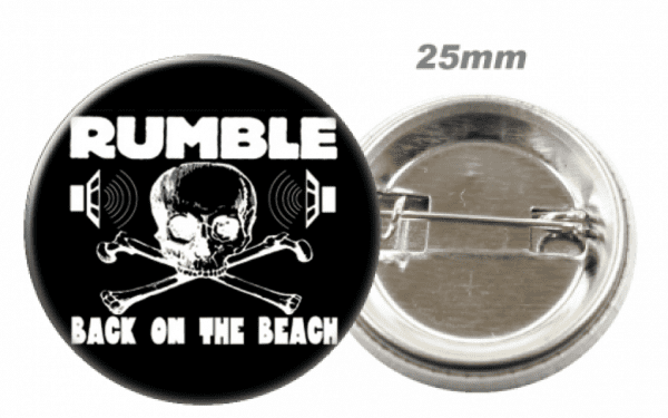 Rumble On The Beach - Button, Badge, Pin