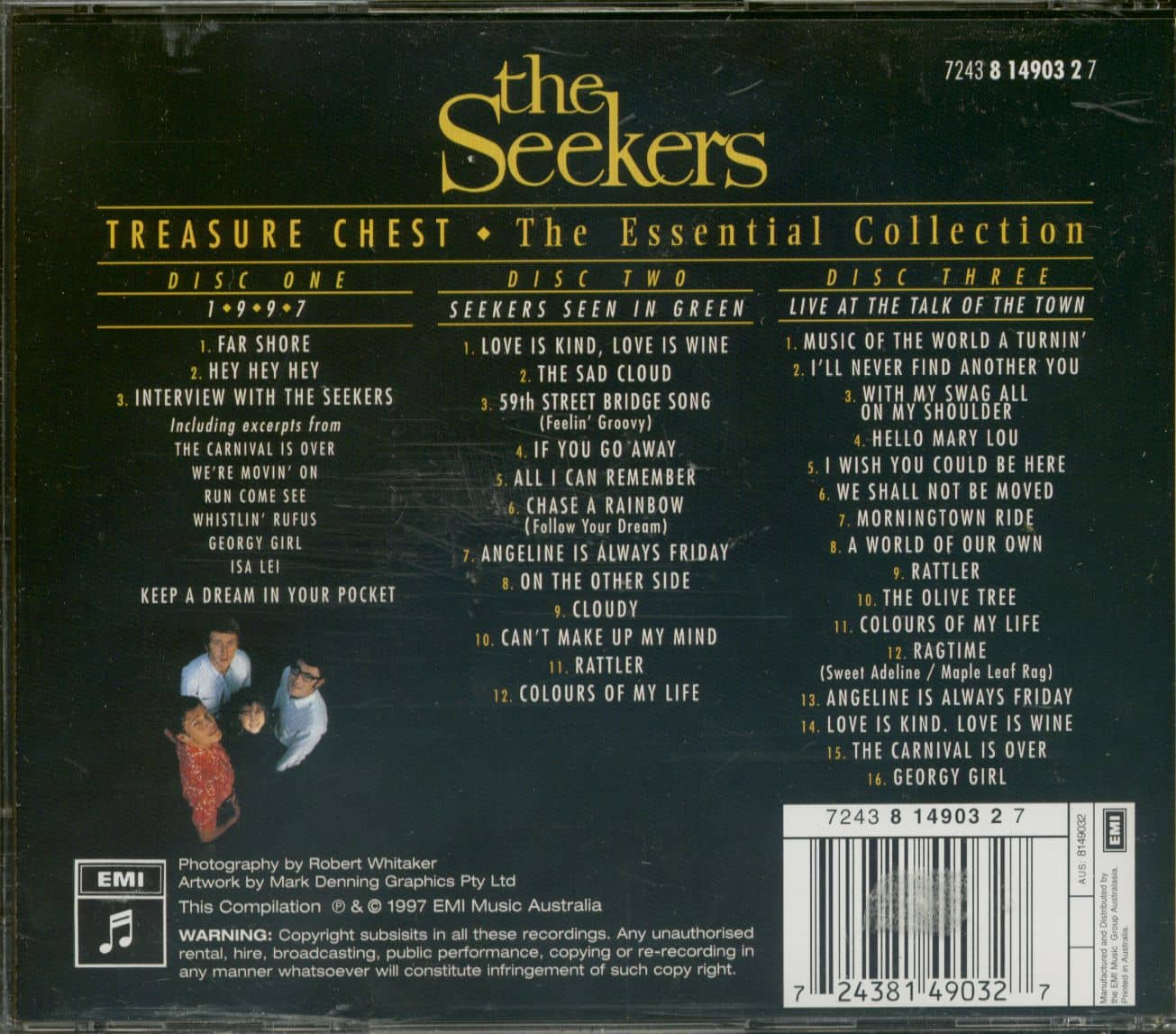 The Seekers Cd Treasure Chest Essential Collection 3 Cd