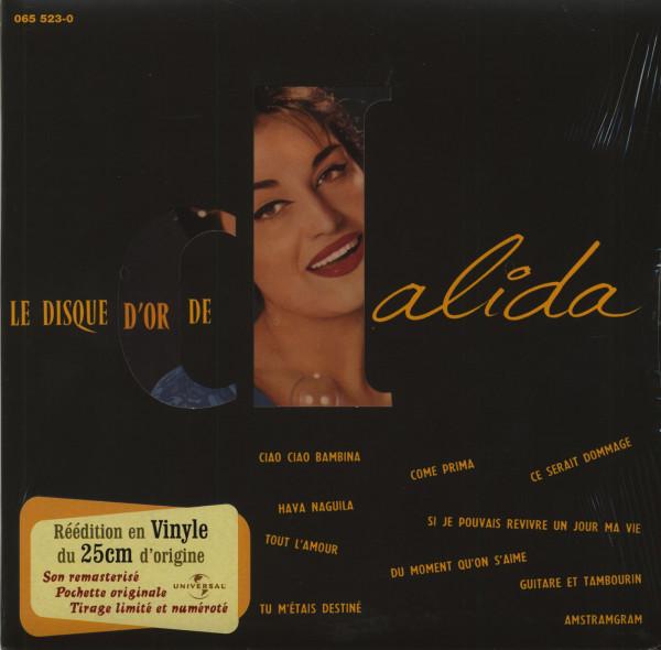 Le Disque D'Or De Dalida (1956) 25cm LP Limited Edition