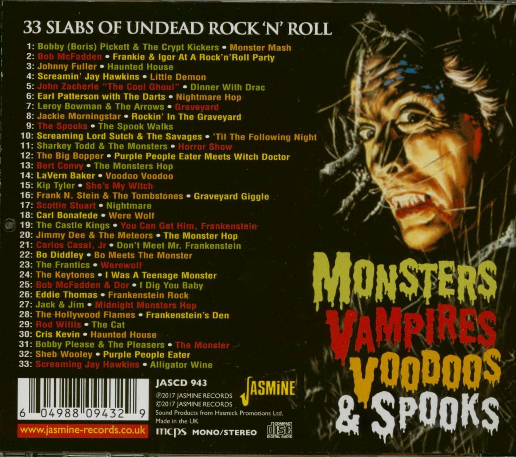 Various Cd Monsters Vampires Voodoos Amp Spooks Cd Bear
