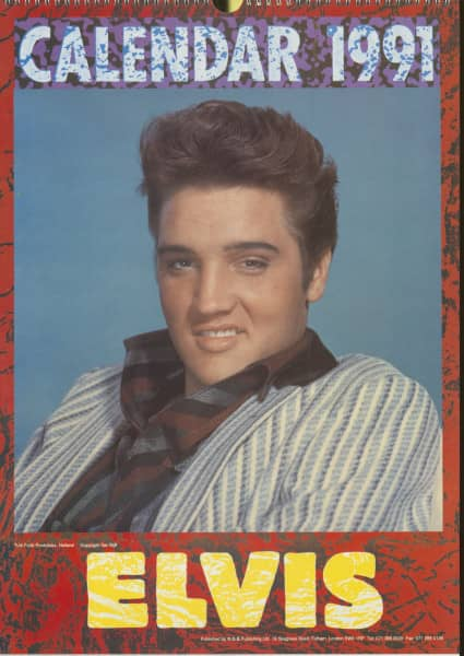 Elvis Presley - 1991 K.G.B. Publishing Calendar