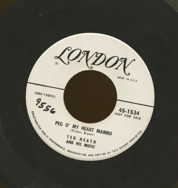 Peg O' My Heart Mambo b-w In The Mood For Mambo (7inch, 45rpm)
