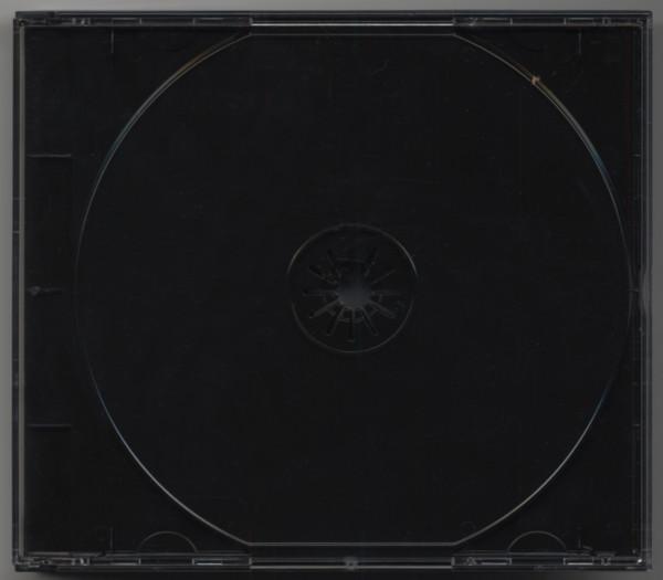 CD Leerbox mit schwarzem Tray für 4 CDs