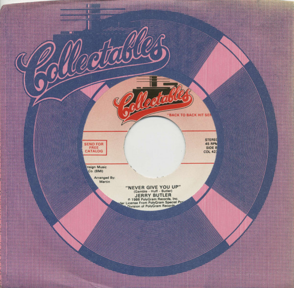 Brook Benton, It's Just A Matter Of Time - Jerry Butler, Never Gonna Give You Up (7inch, 45rpm, BC,
