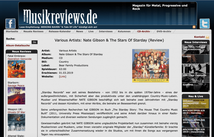 Presse-Nate-Gibson-Nate-Gibson-The-Stars-Of-Starday-Musikreviews-de