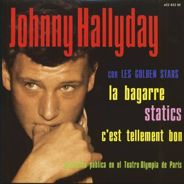 Johnny Hallyday Con Les Golden Stars (7inch, EP, 45rpm, PS, SC, Green Vinyl, Ltd.)