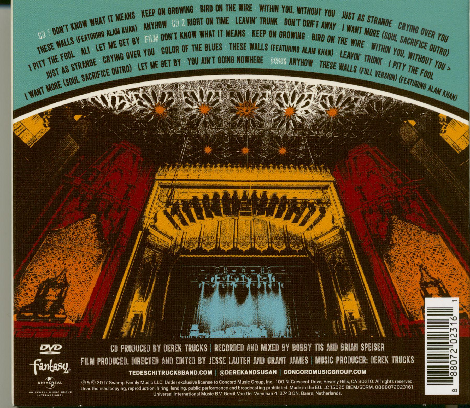 Tedeschi Trucks Band Cd Live From The Fox Oakland 2016 2