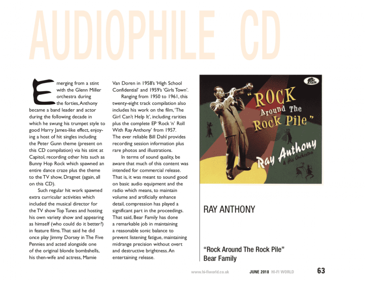 Presse-Archiv-Ray-Anthony-His-Orchestra-Rock-Around-The-Rock-Pile-Hi-Fi-World