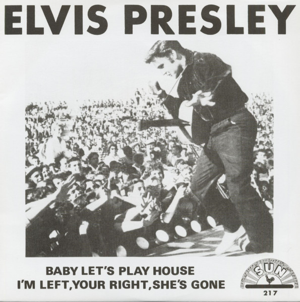 Baby Let's Play House - I'm Left, You're Right, She's Gone, 45rpm, PS, gold vinyl