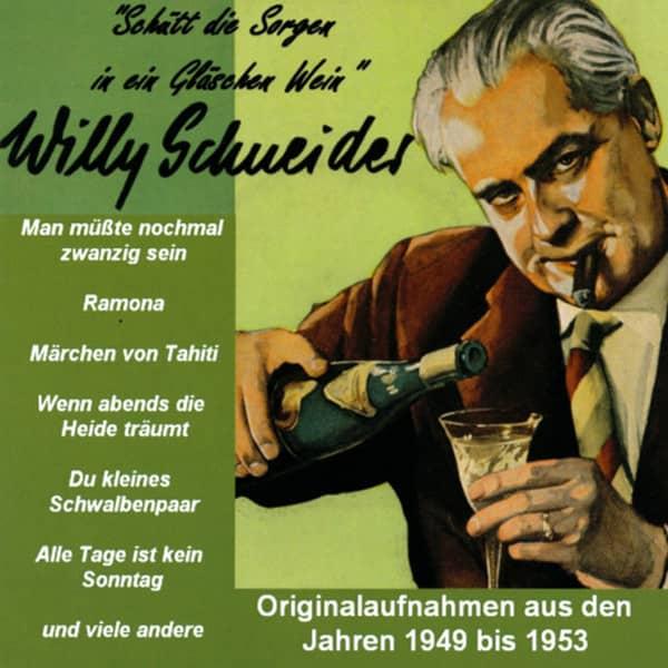 Schuett die Sorgen in ein Glaeschen Wein